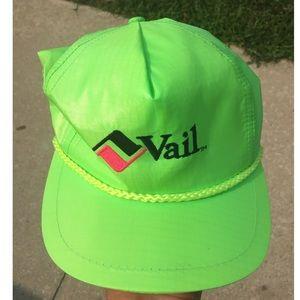 Vintage 80s Vail Bump Bonnets Neon Hat